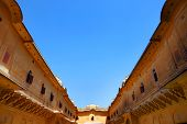 stock photo of courtier  - Traditional architecture in Nahargarh Fort Museum - JPG