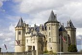 Castle of Saumur in loire valley, france