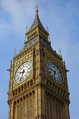 Big Ben Westminster Palace Elizabeth Clock Tower in London UK.