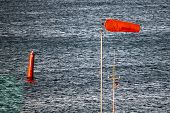 Blue Steel Water With Red buoy And Airtube