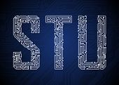 foto of byte  - Set of Circuit board style letters - JPG