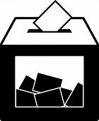 picture of ballot-paper  - ballot box symbol - JPG
