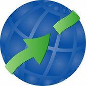 Globe With 3D Arrow