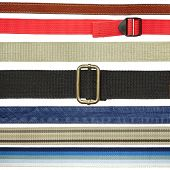 Textile, leather, denim belts and straps.