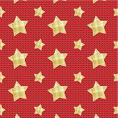 Stars over knitted background, seamless pattern included