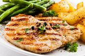 picture of roasted pork  - Grilled steaks - JPG
