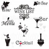Set icons for drinks