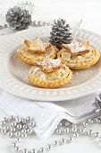 Christmas Mince Pies With Silver Decorations