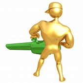 image of leaf-blower  - A Concept And Presentation Figure in 3D - JPG
