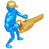 picture of leaf-blower  - A Concept And Presentation Figure in 3D - JPG