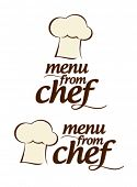 Menu especial da Chef conjunto de ícones.