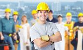image of plumber  - Smiling Construction worker man - JPG