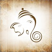 stock photo of ganapati  - Creative shiny illustration of Hindu Lord Ganesha - JPG