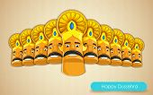 stock photo of ravan  - illustration of Raavana with ten heads for Dussehra - JPG