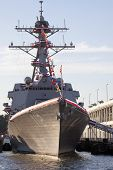NEW YORK - OCT 6: USS Michael Murphy (DDG 112) docked at Pier 88 after a formal ceremony to commissi