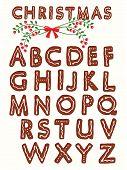 Ginger cookie alphabet