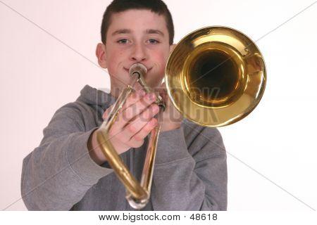 Playing Trombone poster