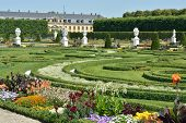Garden With Sculptures In Herrenhausen Gardens, Hanover, Germany