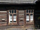Traditional polish wooden hut from Zakopane. Poland