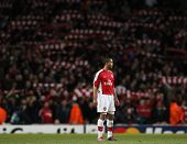 LONDON, ENGLAND. 31/03/2010. Arsenal player Theo Walcott in action during the  UEFA Champions League