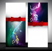 Musical banner set. EPS 10.
