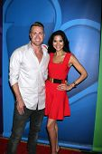 LOS ANGELES - JUL 27:  Jonathan Buckley, Joyce Giraud at the NBC TCA Summer Press Tour 2013 at the B