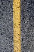 asphalt with yellow line