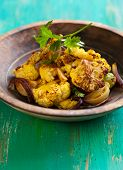 roasted cauliflower with onion,garlic and lemon