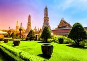 Bangkok luxurious royal palace and garden, Thailand