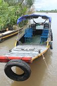 Sampan in the Mekong Delta
