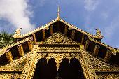 Ubosot In Wat Pra That Chomthong Vora Vihan , Chedi In Chiangmai Thailand