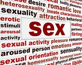 stock photo of aroused  - Sex intimate relationship word clouds design - JPG