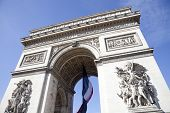 stock photo of charles de gaulle  - Arc de Triomphe in Paris - JPG