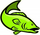 Largemouth Bass Jumping Cartoon