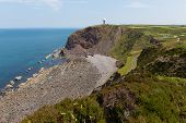 Hartland Point peninsula near Clovelly Devon England on South West Coast Path