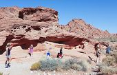 Eine Familie in der Valley Of Fire State Park
