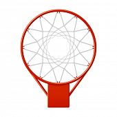 Basketball hoop. Vector.