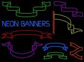 Neon Banner Set