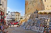 PENISCOLA, SPAIN - JULY, 26: Tourists in souvenir stores surrounding the castle, on July 26, 2013 in