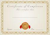 Certificado / modelo de Diploma com padrão floral (traceria)
