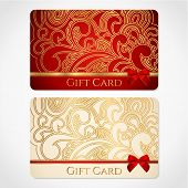 Gift card (discount card, business card) template, layout