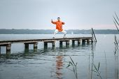 picture of qigong  - A man doing Qi - JPG