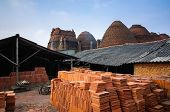 Outdoor View Brick Kiln, Mekong Delta, Vietnam