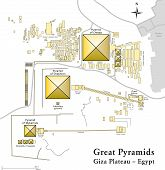 Pyramids of Giza Map