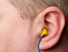 stock photo of noise pollution  - A set of personal protective equipment known as ear plugs - JPG