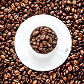 Coffee Beans on coffee beans background