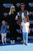 Gwen Stefani, Gavin Rossdale with Kingston Rossdale and Zuma Rossdale at the