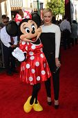 Peta Murgatroyd and Minnie Mouse at