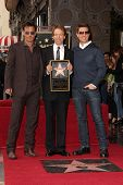 Johnny Depp, Jerry Bruckheimer and Tom Cruise at the Jerry Bruckheimer Star on the Hollywood Walk of