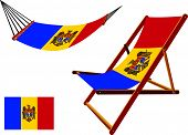 Moldova Hammock And Deck Chair Set